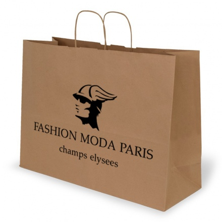 LANDSCAPE BROWN KRAFT PAPER BAG