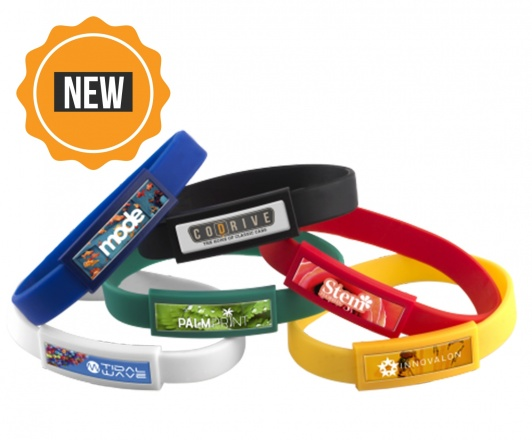 SILICONE WRISTBAND DOMED