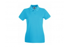 FRUIT OF THE LOOM LADIES FIT POLO SHIRT